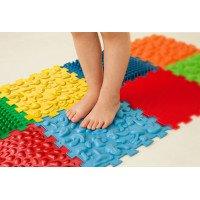 """Mata sensoryczna do masażu stóp """"Puzzle Mix"""" 8 elementów"""